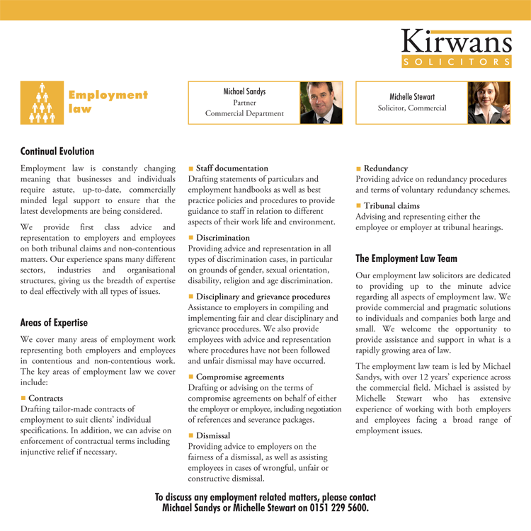 Folder Insert Kirwans Solicitors