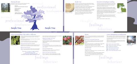 Purple Tree eight page Brochure